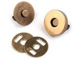 Magnetverschluss - altmessing - 18mm