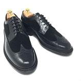 GORDON&BROS Wing tip shoes(Black-Black)
