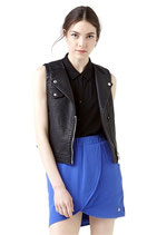 完売致しました。  ELEVEN PARIS    SHELBY W Faux-Leather Vest