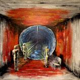 Raum Zeit Kontinuum 80x80 cm
