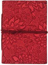 Leder-Blankobuch: Notizbuch Lotusblüten