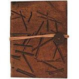 Leder-Blankobuch: Notizbuch Bamboo