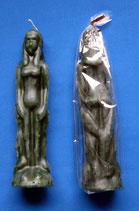Figurenkerzen für magische Zwecke - Frau grün