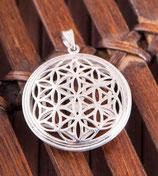 Blume des Lebens 3D, Anhänger Silber