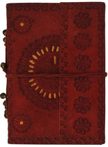 Leder-Blankobuch: Notizbuch mit Ledereinband Sonne