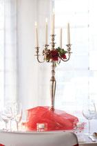 5 Arm Kerzenständer Silber