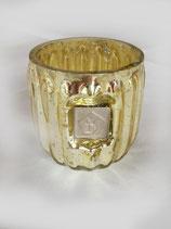 Teelichtglas Gold