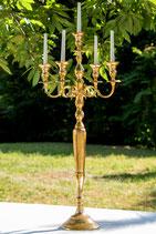 5 Arm Kerzenständer Gold