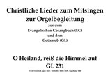 O Heiland, reiß die Himmel auf GL 231