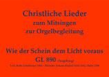 Wie der Schein dem Licht voraus GL 890 (Augsburg)