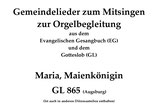 Maria, Maienkönigin GL 8xx (Melodie: A. Schubiger)