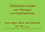 Nun segne, Herr, uns allzumal GL 738 (Augsburg)