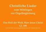 Das Heil der Welt, Herr Jesus Christ GL 498