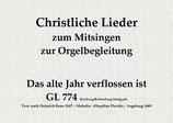 Das alte Jahr verflossen ist GL 774 (Freiburg/Rottenburg-Stuttgart)