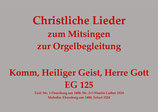 Komm, Heilger Geist, Herre Gott EG 125