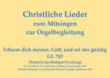 Erbarm dich meiner, Gott, und sei mir gnädig GL 783 (Rottenburg-Stuttgart/Freiburg)