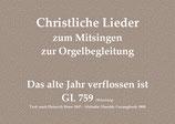 Das alte Jahr verflossen ist GL 759 (Würzburg)