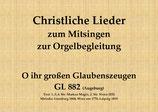 O ihr großen Glaubenszeugen GL 882 (Augsburg)