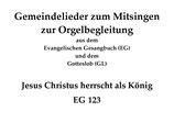 Jesus Christus herrscht als König EG 123