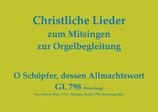 O Schöpfer, dessen Allmachtswort GL 798 (Würzburg)