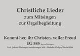 Kommt her, ihr Christen, voller Freud EG 585 (Bay./Thü.)