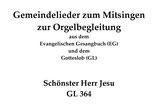 Schönster Herr Jesu GL 364