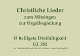O heiligste Dreifaltigkeit GL 352