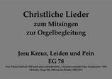 Jesu Kreuz, Leiden und Pein EG 78
