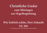 Wie lieblich schön, Herr Zebaoth EG 282