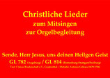Sende, Herr Jesus, uns deinen Heilgen Geist GL 782 (Augsburg) / GL 814 (Rottenburg-Stuttgart/Freiburg)