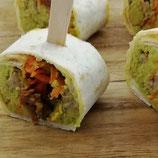 Mini-Wraps mit Geflügel und Guacamole