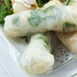 Vietnamesische Sommerrollen mit Räuchertofu (vegan)