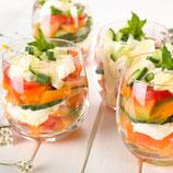 Saisonaler Obstsalat im Gläschen (vegan)