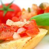 Bruschetta Tomate-Basilikum