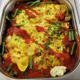 Gemüse-Lasagne mit Mozzarella und Parmesan