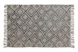 Teppich mit grauem Rautenprint