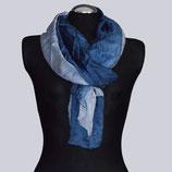 Seiden-Schal, blautöne