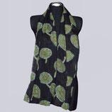 Feiner, leichter Schal, schwarz/grün