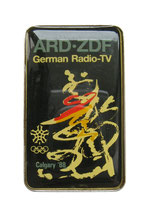 Calgary 1988 German Media Radio-TV Badge