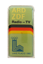 Lake Placid 1980 German Media Radio-TV Badge