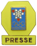 Grenoble 1968 Press Badge