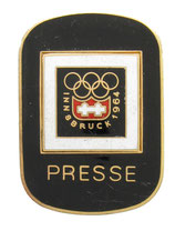 Innsbruck 1964 Press Badge