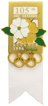 Atlanta 1996 IOC-Badge for the 105th session