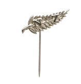Silver Fern Leaf NZ Pin