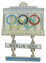 Official's Badge from the Olympic Day 1990 in East-Berlin
