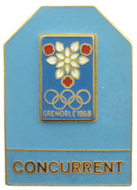 Grenoble 1968 Competitor's Badge