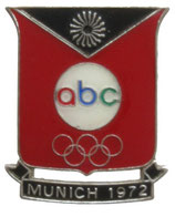 Munich 1972 Broadcasting Company ''abc''-Badge