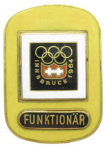 Innsbruck 1964 Functionary's Badge
