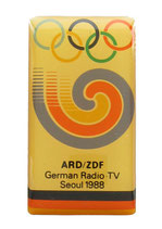 German Media Radio-TV Badge Seoul 1988