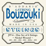 D'Addario Bouzouki-Greek 6 strings Nickel Wound